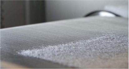 melt spraying fabric