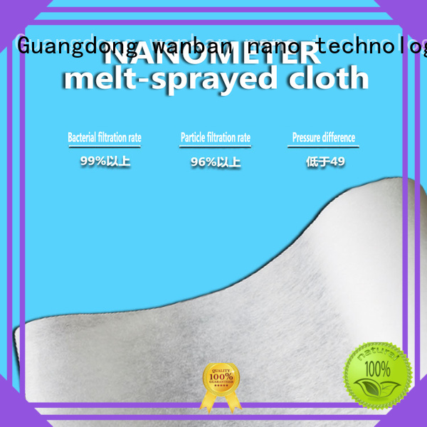 Wanban Best masks filter cloth material company for medical mask